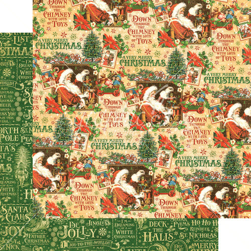 Graphic 45 - St Nicholas Collection - Christmas - 12 x 12 Double Sided Paper - Santa's Workshop