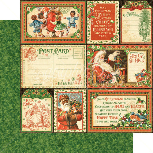 Graphic 45 - St Nicholas Collection - Christmas - 12 x 12 Double Sided Paper - Be Jolly