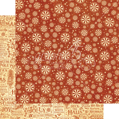 Graphic 45 - St Nicholas Collection - Christmas - 12 x 12 Double Sided Paper - Sweet Tooth