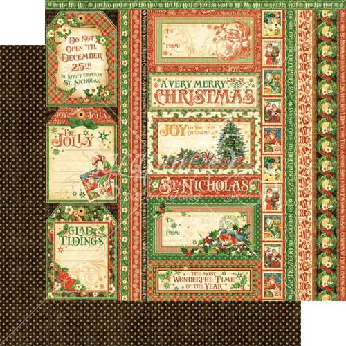 Graphic 45 - St Nicholas Collection - Christmas - 12 x 12 Double Sided Paper - Season's Greetings