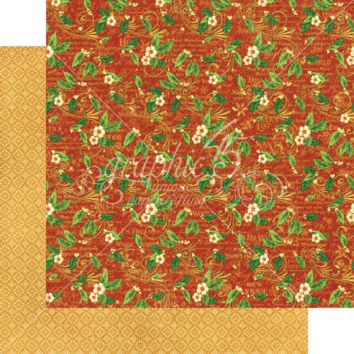 Graphic 45 - St Nicholas Collection - Christmas - 12 x 12 Double Sided Paper - Holly Daze