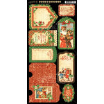 Graphic 45 - St Nicholas Collection - Christmas - Cardstock Tags and Pockets