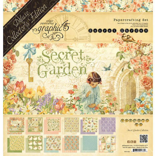 Graphic 45 - Secret Garden Collection - Deluxe Collector's Edition - 12 x 12 Papercrafting