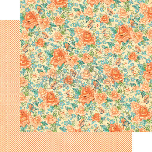 Graphic 45 - Cafe Parisian Collection - 12 x 12 Double Sided Paper - Floral Souffle