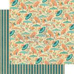 Graphic 45 - Cafe Parisian Collection - 12 x 12 Double Sided Paper - Parasol Bouquet