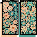 Graphic 45 - Cafe Parisian Collection - Cardstock Flowers