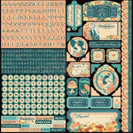 Graphic 45 - Cafe Parisian Collection - 12 x 12 Cardstock Stickers