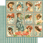 Graphic 45 - Off to the Races Collection - 12 x 12 Double Sided Paper - My Fair Lady
