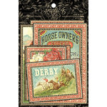 Graphic 45 - Off to the Races Collection - Ephemera Cards
