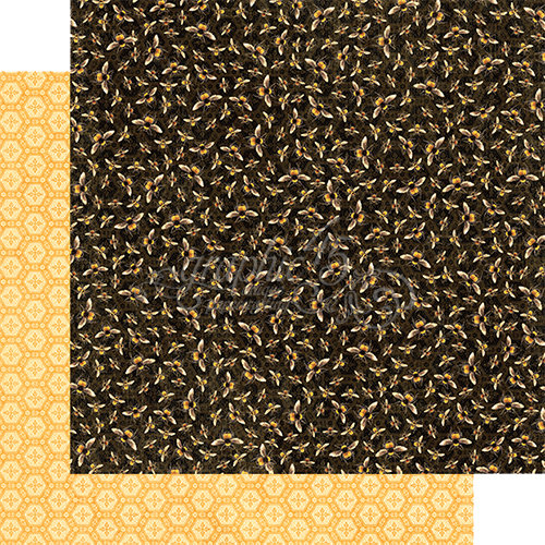 Graphic 45 - Nature Sketchbook Collection - 12 x 12 Double Sided Paper - Harmonious Honeybees