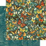 Graphic 45 - Nature Sketchbook Collection - 12 x 12 Double Sided Paper - Monarch Majesty