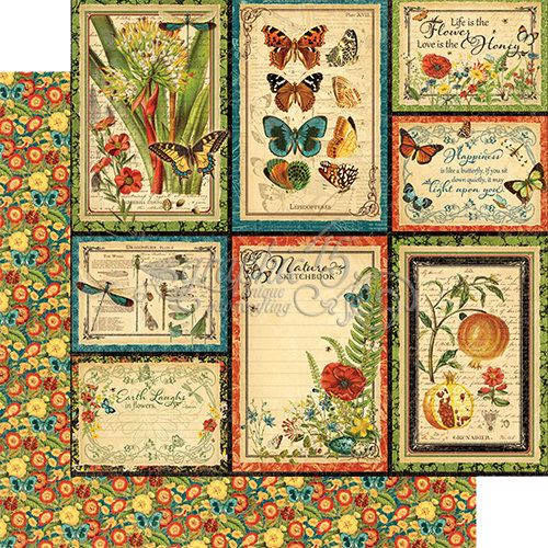 Graphic 45 - Nature Sketchbook Collection - 12 x 12 Double Sided Paper - Beautiful World