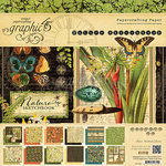 Graphic 45 - Nature Sketchbook Collection - 8 x 8 Paper Pad