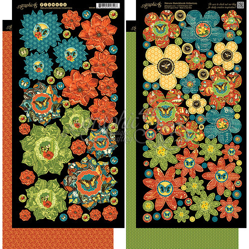 Graphic 45 - Nature Sketchbook Collection - Flowers