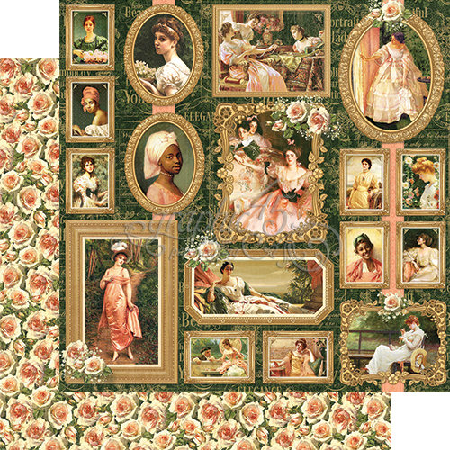Graphic 45 - Portrait of a Lady Collection - 12 x 12 Double Sided Paper - Elizabeth