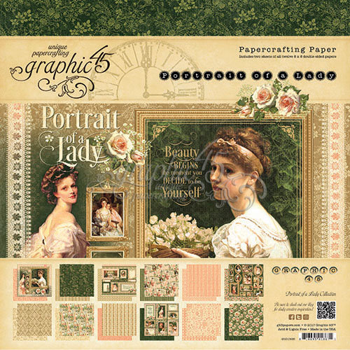 Graphic 45 - Portrait of a Lady Collection - 8 x 8 Paper Pad