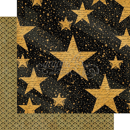 Graphic 45 - Vintage Hollywood Collection - 12 x 12 Double Sided Paper - Star Studded