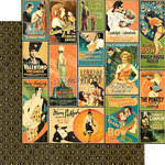 Graphic 45 - Vintage Hollywood Collection - 12 x 12 Double Sided Paper - Tinseltown