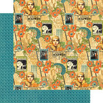 Graphic 45 - Vintage Hollywood Collection - 12 x 12 Double Sided Paper - Dazzling Diva