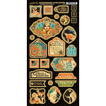 Graphic 45 - Vintage Hollywood Collection - Die Cut Chipboard Tags - One