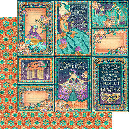 Graphic 45 - Midnight Masquerade Collection - 12 x 12 Double Sided Paper - Music Makers