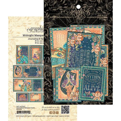 Graphic 45 - Midnight Masquerade Collection - Ephemera Cards