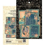 Graphic 45 - Midnight Masquerade Collection - Ephemera Cards