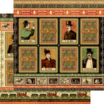 Graphic 45 - Master Detective Collection - 12 x 12 Double Sided Paper - Whodunnit