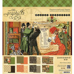 Graphic 45 - Master Detective Collection - 8 x 8 Paper Pad