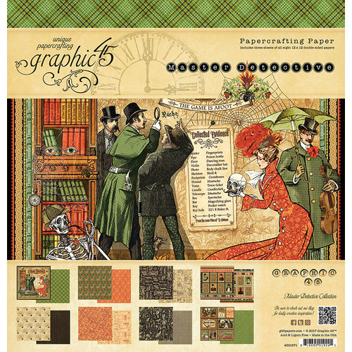 Graphic 45 - Master Detective Collection - 12 x 12 Paper Pad
