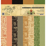 Graphic 45 - Master Detective Collection - 12 x 12 Patterns and Solids Paper Pad