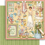 Graphic 45 - Penny's Paper Doll Family Collection - 12 x 12 Double Sided Paper - Mothers and Daughters