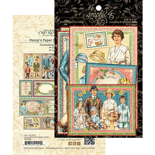 Graphic 45 - Penny's Paper Doll Family Collection - Ephemera Cards