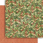 Graphic 45 - Winter Wonderland Collection - Christmas - 12 x 12 Double Sided Paper - Holly Berries