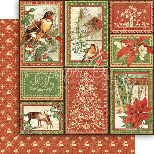 Graphic 45 - Winter Wonderland Collection - Christmas - 12 x 12 Double Sided Paper - Rustic Holiday