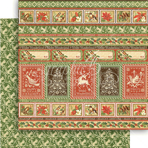 Graphic 45 - Winter Wonderland Collection - Christmas - 12 x 12 Double Sided Paper - Nordic Greetings