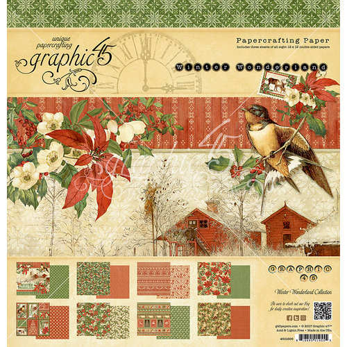 Graphic 45 - Winter Wonderland Collection - Christmas - 12 x 12 Paper Pad