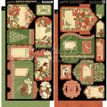 Graphic 45 - Winter Wonderland Collection - Christmas - Tags and Pockets