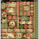 Graphic 45 - Winter Wonderland Collection - Christmas - 12 x 12 Cardstock Stickers