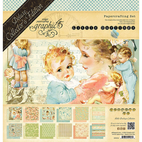 Graphic 45 - Little Darlings Collection - Deluxe Collector's Edition - 12 x 12 Papercrafting Kit