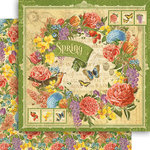 Graphic 45 - Seasons Collection - 12 x 12 Double Sided Paper - Spring