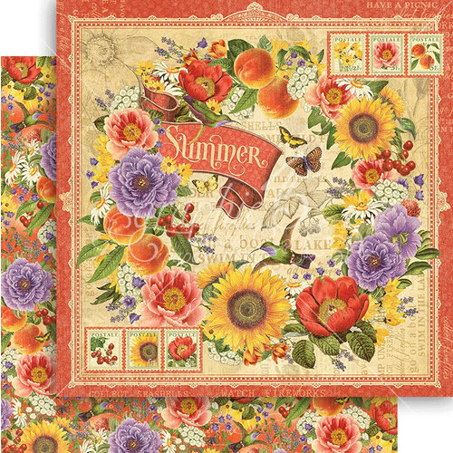 Graphic 45 - Seasons Collection - 12 x 12 Double Sided Paper - Summer