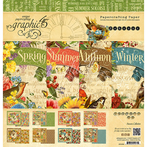 Graphic 45 - Seasons Collection - 12 x 12 Paper Pad