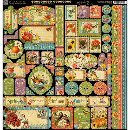 Graphic 45 - Seasons Collection - 12 x 12 Cardstock Stickers