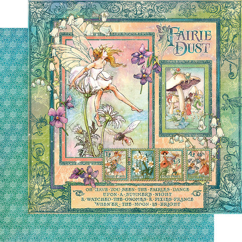 Graphic 45 - Fairie Dust Collection - 12 x 12 Double Sided Paper - Fairie Dust