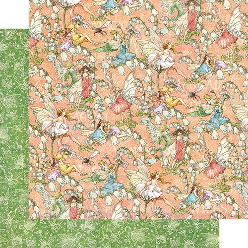 Graphic 45 - Fairie Dust Collection - 12 x 12 Double Sided Paper - Pixie Prance