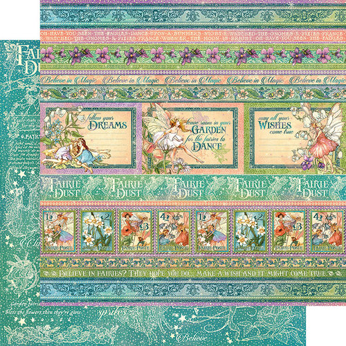 Graphic 45 - Fairie Dust Collection - 12 x 12 Double Sided Paper - Magic Wishes