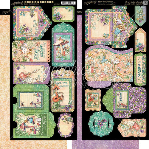 Graphic 45 - Fairie Dust Collection - Tags and Pockets