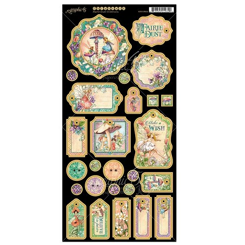 Graphic 45 - Fairie Dust Collection - Die Cut Chipboard Tags