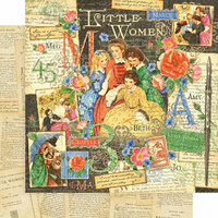Graphic 45 - Little Women Collection - 12 x 12 Double Sided Paper - Little Women
